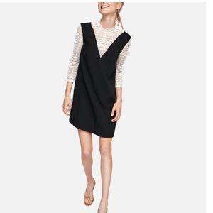 Zara Contrasting Fabric Lace Dress